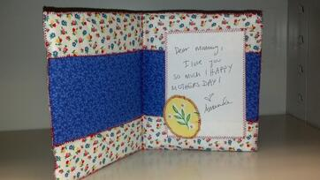 This card is made of machine sewn fabric!