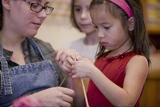 teach kids to knit, summer camp