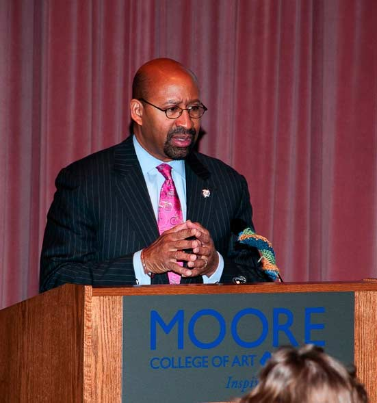 Mayor Nutter at said Microphone.