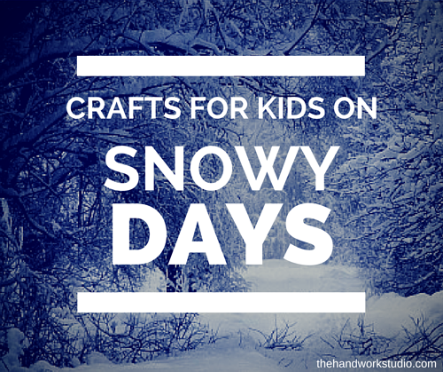 Snow Day Crafts For Kids