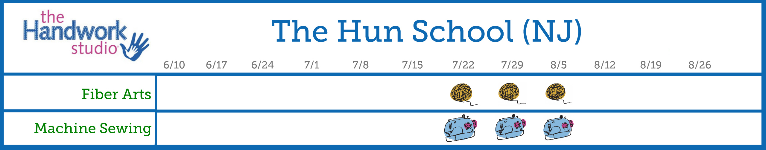 Hun School Program Schedule 2.0