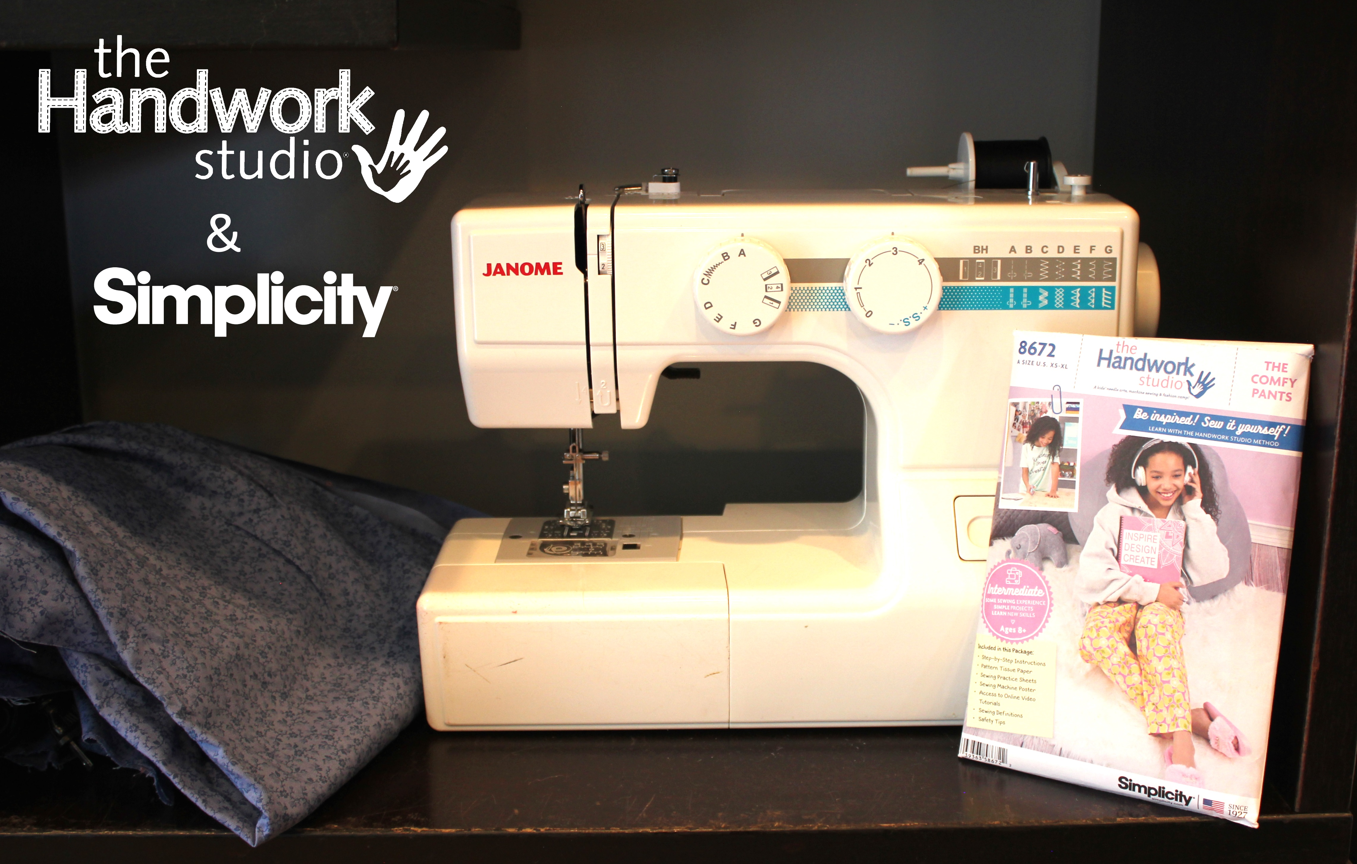 sewing machine with Handwork Studio Simplicity Sewing Pattern