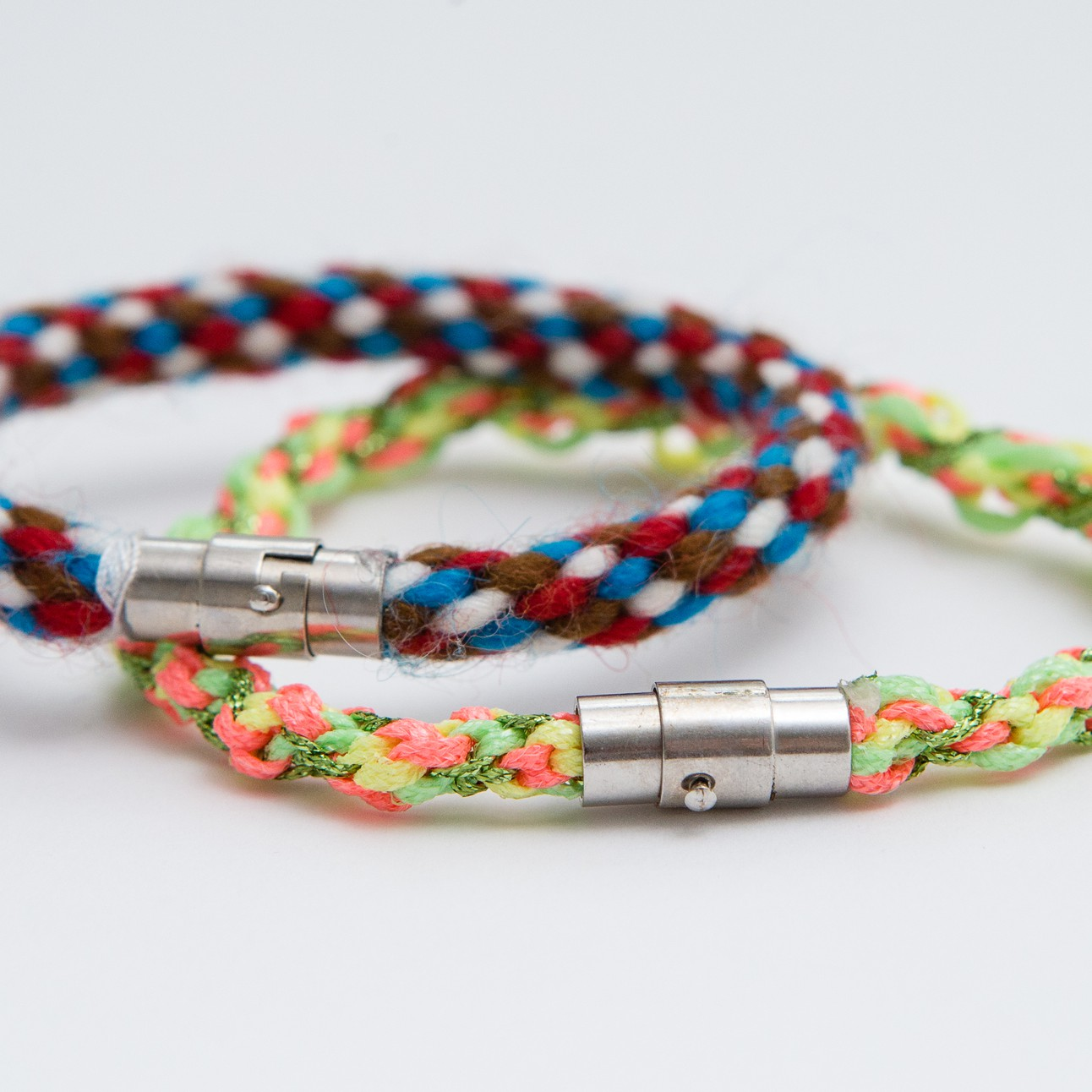 Kumihimo braid bracelets