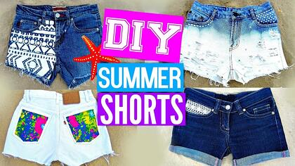5e8fbeee00 Cut an old pair of jeans into shorts and make them stylish using a variety  of techniques! This video shows how to do modifications such as adding  lace, ...