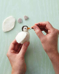 Martha Stewart penguin needle felting
