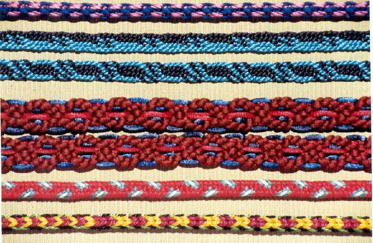 Colorful marudai kumihimo braids