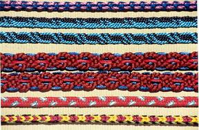 Colorful marudai kumihimo braids
