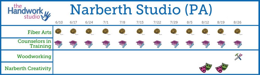 Narberth Studio Program Schedule