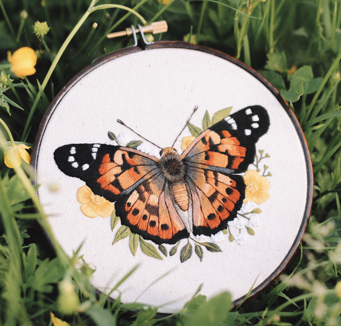 Butterfly embroidery, emillieferris
