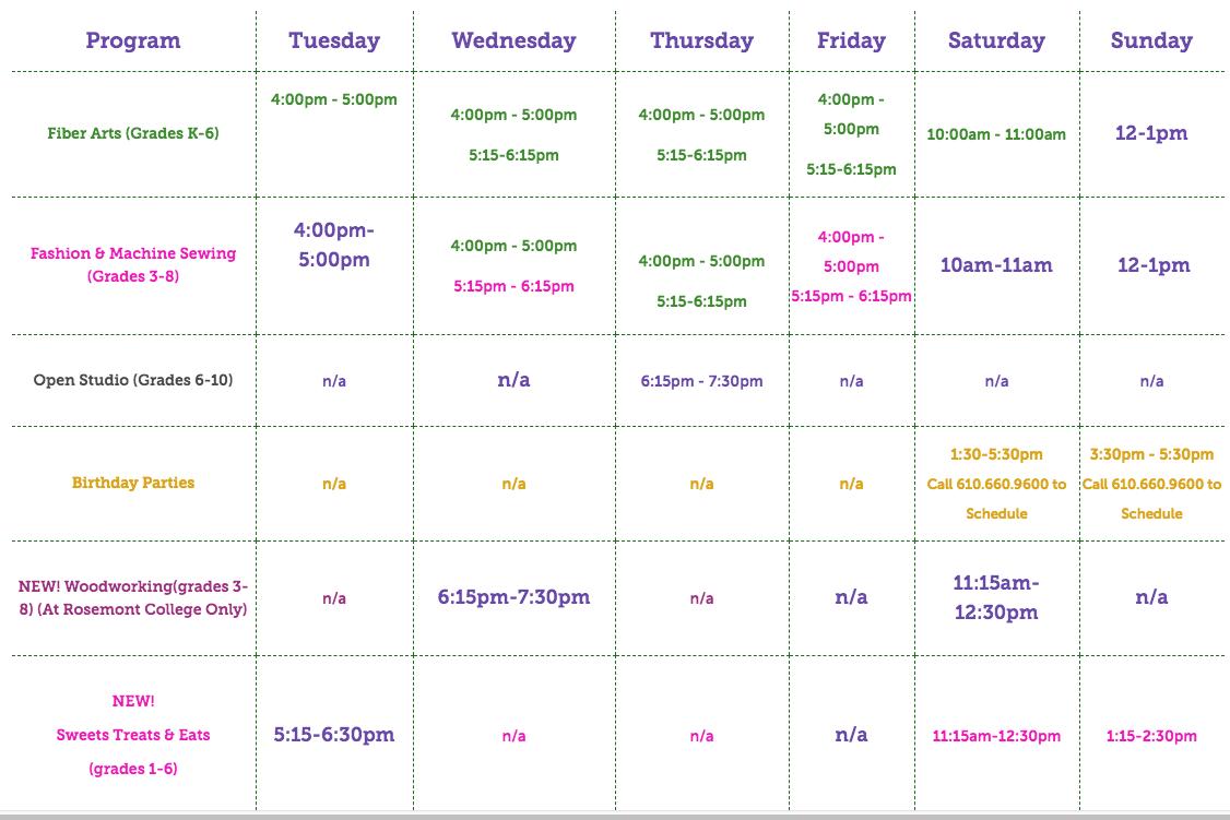 Class - Schedule