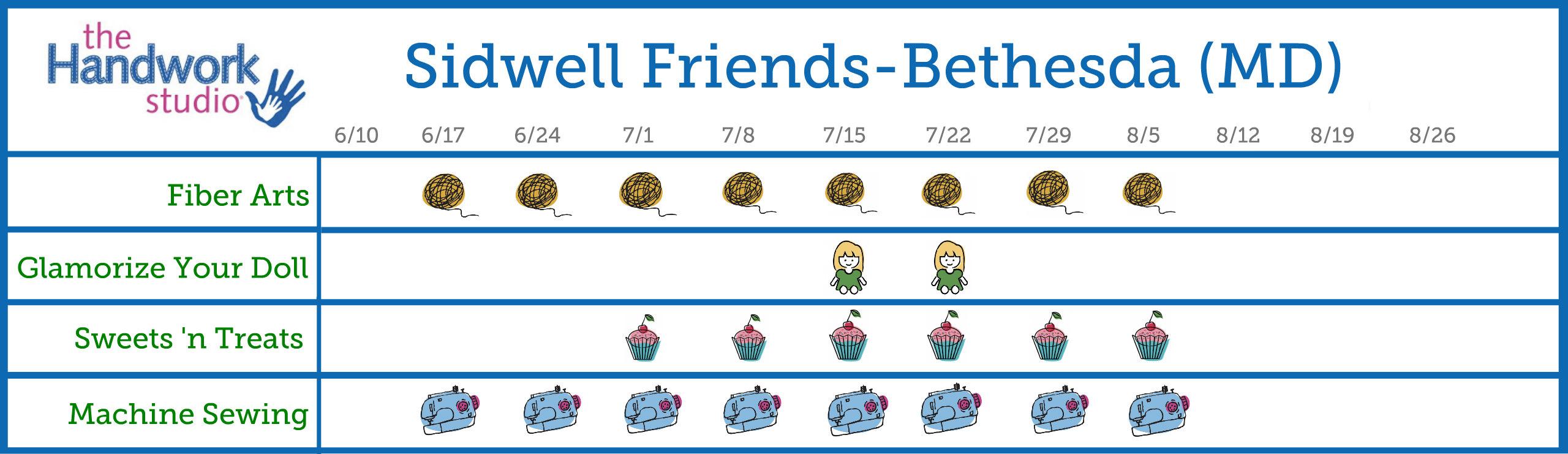 Sidwell Bethesda Program Schedule 2.0