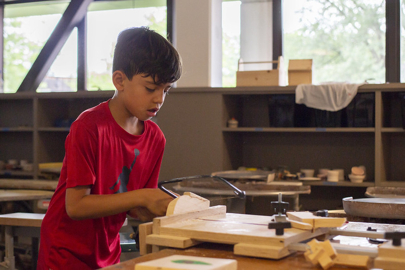 boy - woodworking - education - narberth